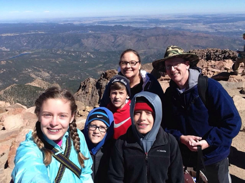 Family at pikes peak