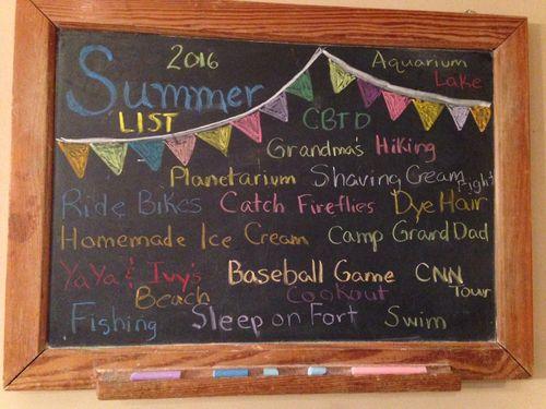 Summer List 2016